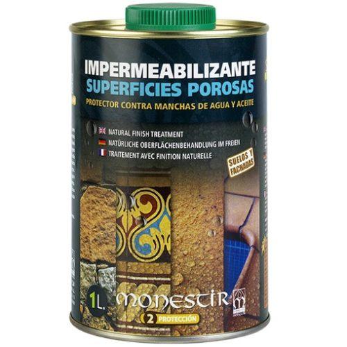 Monestir impermeabilizante protector de manchas de agua y aceite de superficies porosas